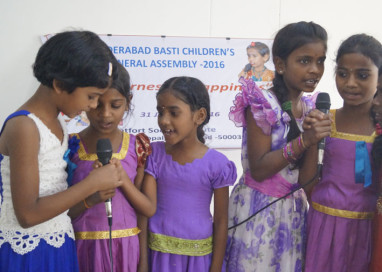 HYDERABAD CITY LEVEL BASTI CHILDREN ASSEMBLY