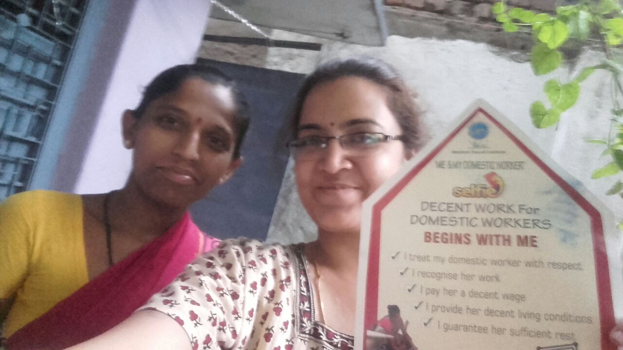 SELFIE WITH THE DOMESTIC WORKER